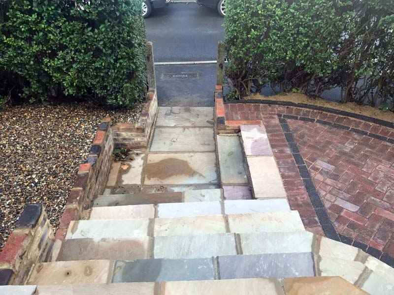 Block Paving, Steps and Patio Project