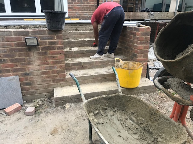 Walls, Steps and Patio in Kent