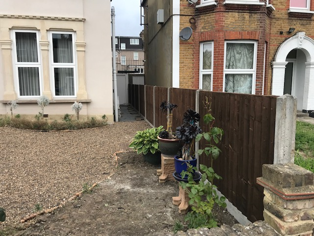Fencing Project Front Garden